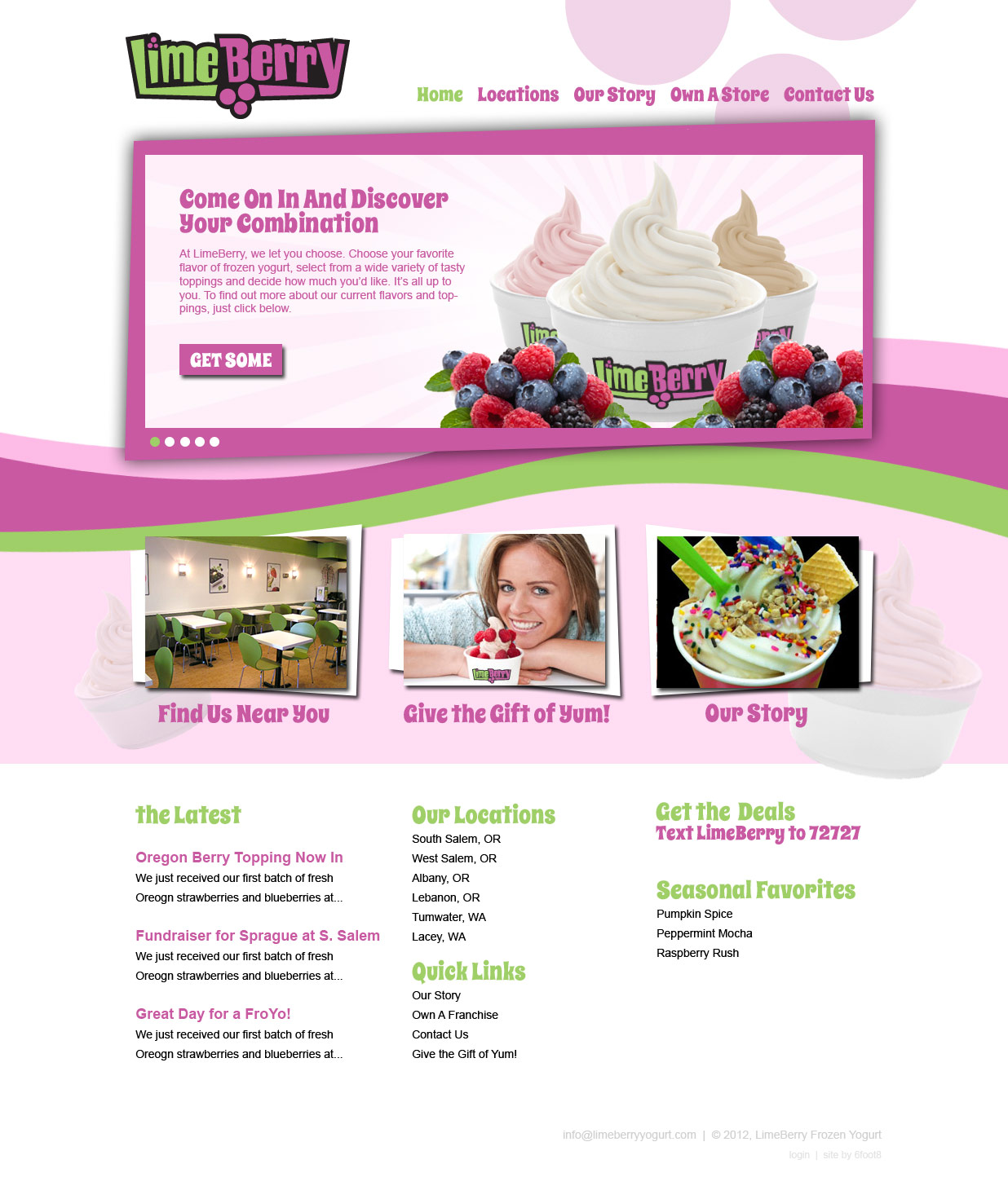 LimeBerryYogurt.com WordPress Website Design
