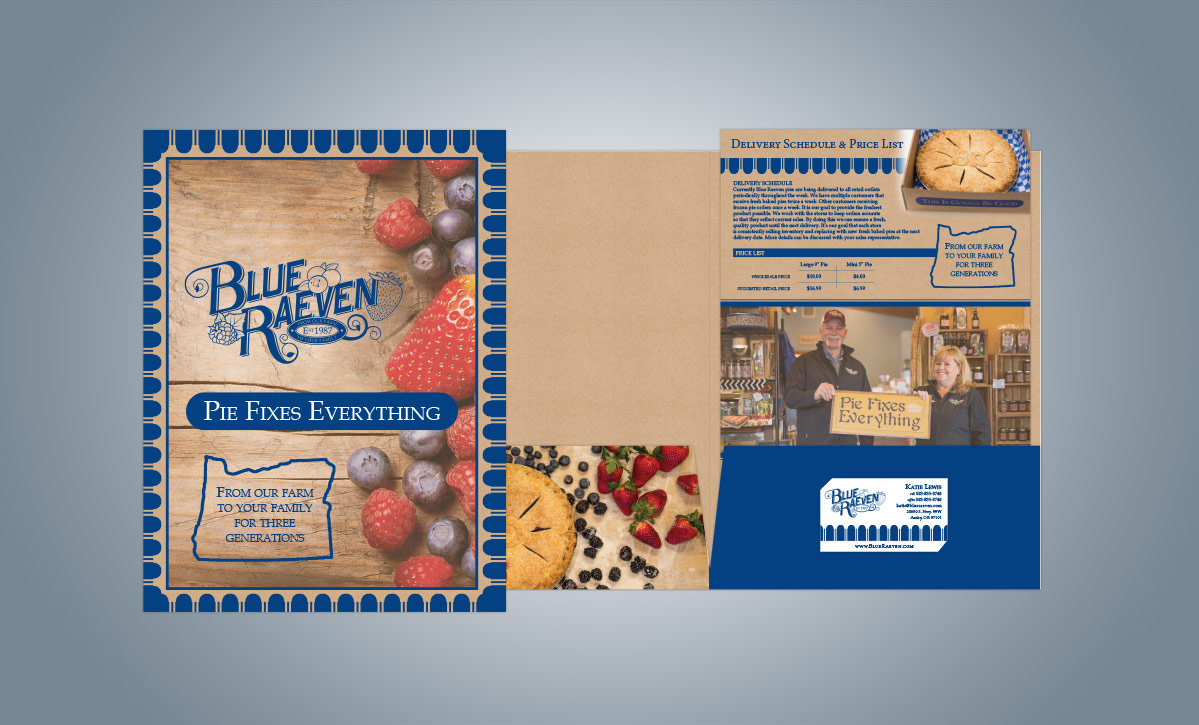 Branded Folder Design with Insert (for Blue Raeven)