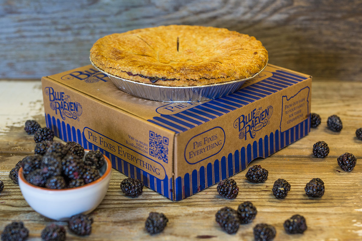 Blue Raeven Custom Pie Box (Graphic Design)