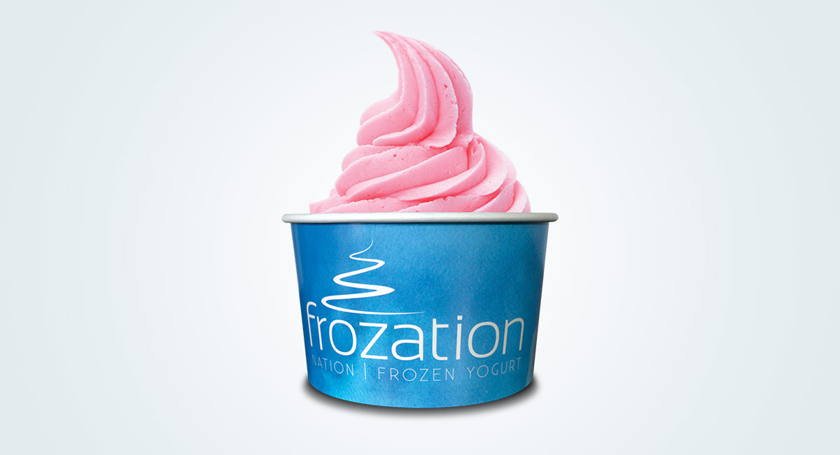 Frozation Nation Frozen Yogurt Cup Design