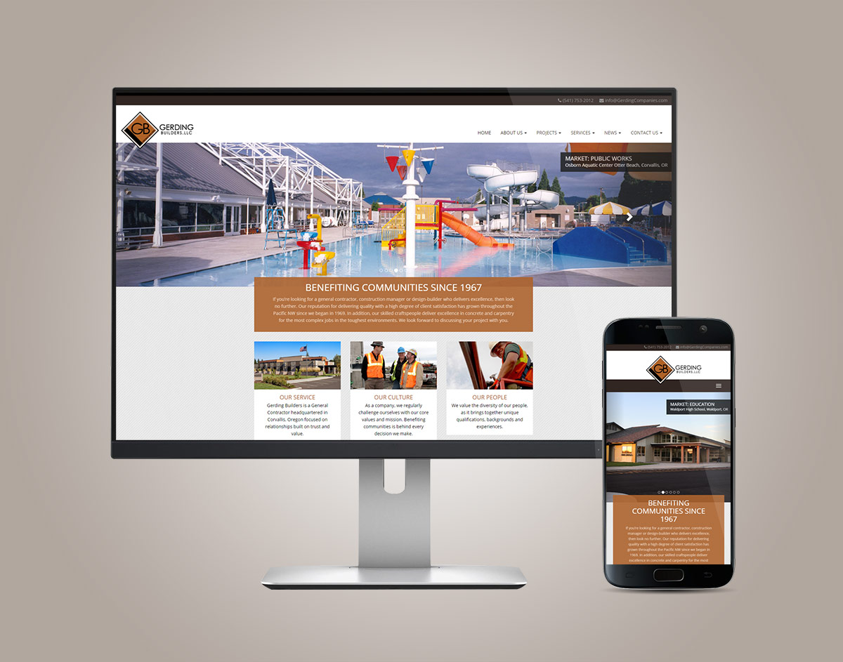 GerdingBuilders.com Responsive WordPress Website on Desktop & Mobile