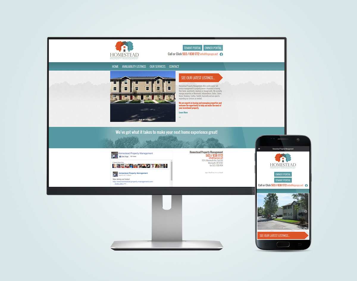 Homestead-Property-Management.com Website Design (Desktop & Mobile)