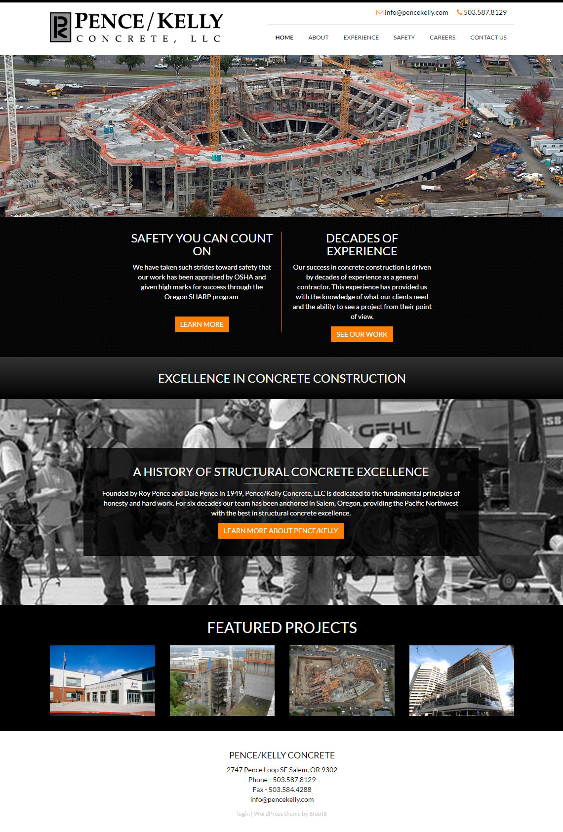 PenceKelly.com Website Design - Full Home Page