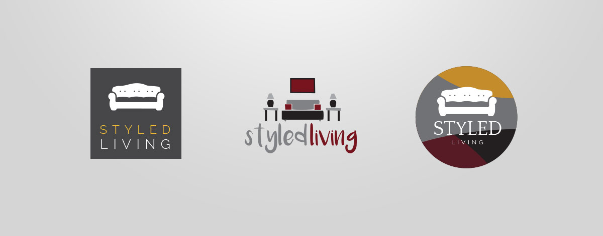 Logo Development: Select Initial Compositions for Styled Living