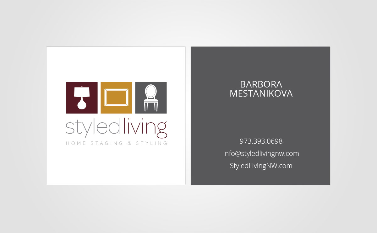 Stationery - Square Business Card Design for Styled Living
