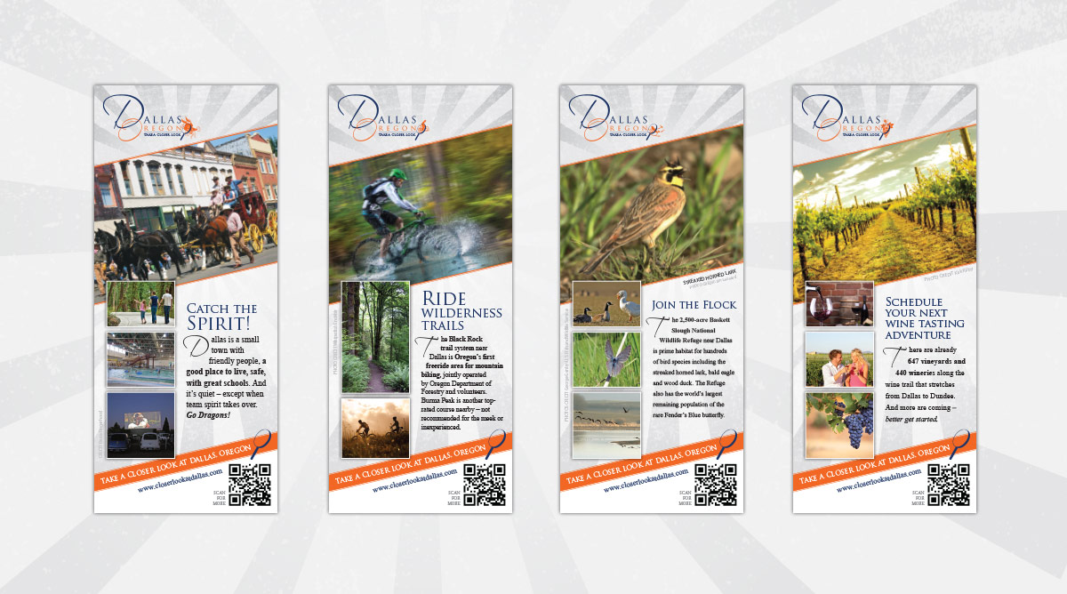 """Take a Closer Look at Dallas, Oregon"" Campaign Rack Cards"