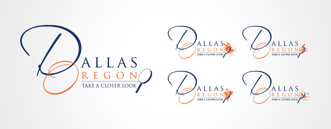 """Take a Closer Look at Dallas, Oregon"" Campaign Logo Development (utilizing existing city mark)"